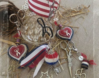 patriotic scissor fob