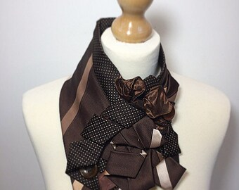 Christmas gifts, Gift for her,Loop scarf, infinity scarf, circle scarf, brown scarf, neckwarmer
