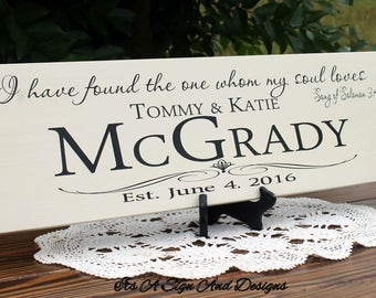 Personalized Family Name Signs, Wedding Sign, Wedding Last Name Signs, Bridal Shower, Custom Wedding Gift, Established Family Signs