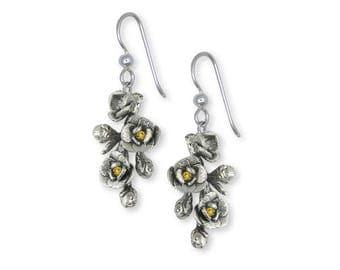 Magnolia Earrings Jewelry Sterling Silver Handmade Flower Earrings MGS1-SE