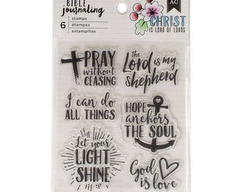 Bible Journaling Stamps PRAY WITHOUT CEASING by American Crafts Bible Journaling 6 pc Clear stamp set 378666 1.cc1x