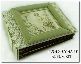 Album KIT ''A Day In MAy Album'' 8.25x6.25 inches with PDF Tutorial