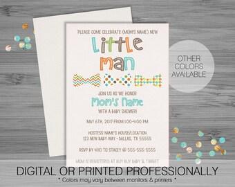 Bowtie Baby Shower Invitation - Custom - Printable
