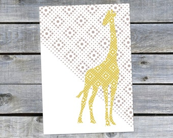 Postcard {the yellow giraffe}