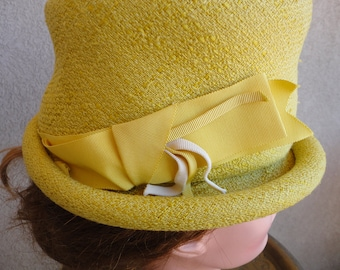 Yellow Fabric Hat