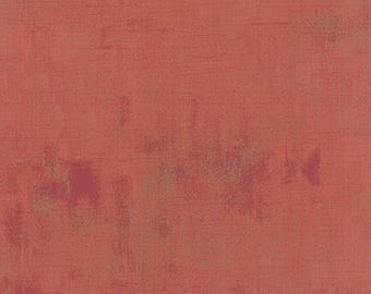 OOAK #1430 - 41 x 44 - Mon Ami Grunge Rouge Red Fabric by Basic Grey - 30150 272