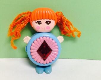 Sweet Secrets Toy, Gleamie Doll, Orange Hair, Kawaii Cute Doll,Transforming Jewelry, Flower Gem, Galoob Toys, Vintage Girls Toys, 1980s Toys