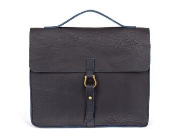 Blue leather bag, women's handbags, Lennon clutch women, leather bag, satchel purse, Messenger Bags Leather handbag, crossbody bag [p1]