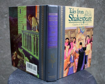 Vintage 1986 Tales From Shakespeare by Charles & Mary Lamb, Illustrated, Hardcover