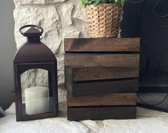 Versatile Rustic Wooden Crate Box