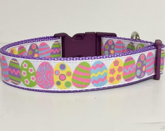 Easter Egg - Cute - Glitter - spring - gift- Pink Green Dog Collar