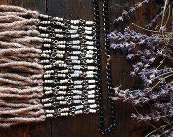 Short Fringe Bib Necklace