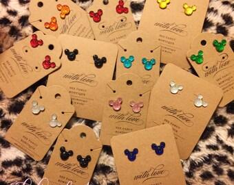 Crystal Mickey head earrings