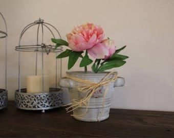 Peony flower pot arrangement