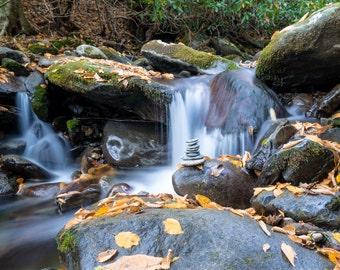 A Moment of Zen - GSMNP - Great Smoky Mountains National Park - Waterfalls - Nature - Landscape - Tennessee - Fine Art - Appalachian Trail