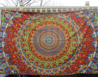 60x90 Bear Vibrations Tapestry/ Dancing Bear Tapestry/ Bear Tapestries/ Grateful Dead Tapestries