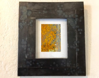 Repurposed Steel Metal Picture Frame: Holds 8x10 Picture. Art Frame is 16x18.