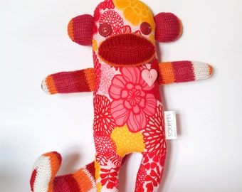 SQUEETS craft Funky Monkey 'Audrey' handmade unique softie