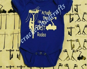 Actually, this is my first rodeo- onesie