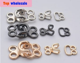 1000 Sets 26*15mm ,20*10mm   silver gun-metal Gold buckle ,coat hook, hook and eye contact button , Invisible buckle wholesale  ks-603