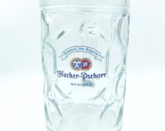 Hacker - Pschorr 1L Dimple  Beer Glass