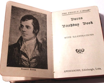 Burns Birthday Book With Illustrations Poems Sonnets Antique