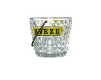 Aveze Auvergne Gentiane French liquor ice bucket -- French cafe promo item -- kitchen home decor