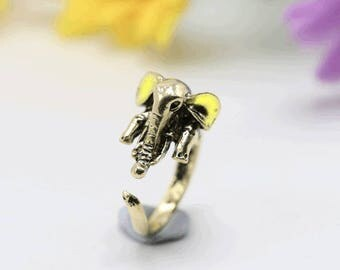 Elephant ring, adjustable ring, animals ring