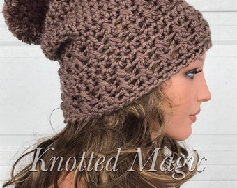 Rustic Magic Slouch Crochet Pattern, Crochet Slouch Pattern, Crochet PDF, Digital Download, Trendy Slouch Pattern, Textured Slouch Pattern