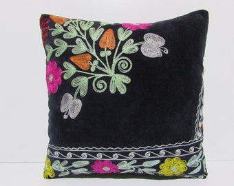 "16x16"" SUZANI PILLOW suzani pillow cover suzani pillow case suzani bedding pillow suzani pillowcase suzani throw pillow suzani fabric S1036"