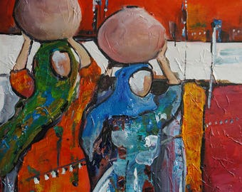 Heading Home Original painting in print