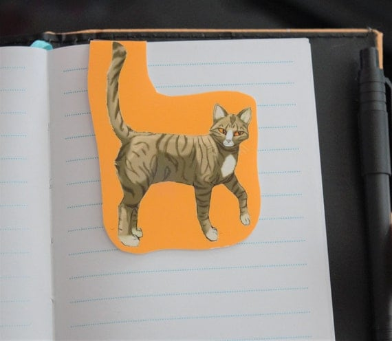 Tabby Cat Magnetic Bookmark
