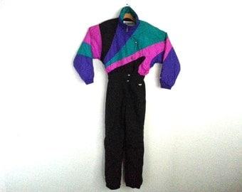 Rad Vintage 90s Ski Suit Color Block Women's 12