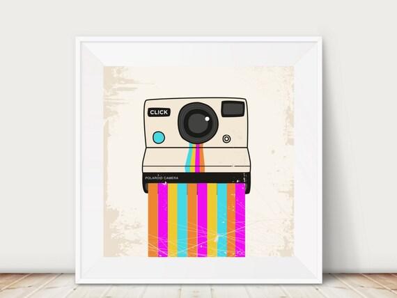 Polaroid Printable I Printable I Rainbow I Gallery Wall I Hipster I Office I Printable I Office Decor I Bold