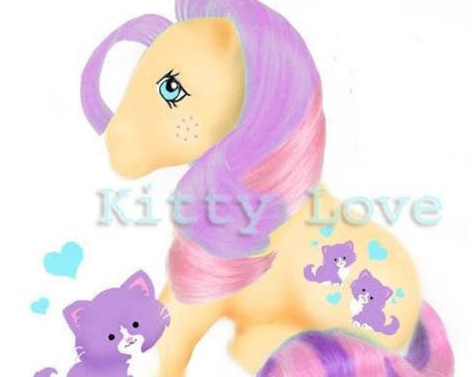 Featured listing image: CUSTOM PONY Kitty Love Matte Edition