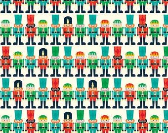 SALE - Nutcracker Minis Fabric - Christmas Toy Soldier on Cream - Riley Blake Designs. 100% cotton - C5335 Cream