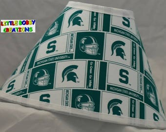 NCAA Michigan State University Fabric Lamp Shade   (10 Sizes to Choose From!)