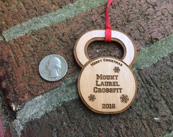Wooden Kettlebell Ornaments