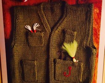 Little knitted fishermans vest pdf pattern instructions.