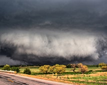 Tornado Photography, Landscape Photography, 4 x 6 Print, Tornadoes, Stormy Weather, Dark Skies, Business Decor, Weather Landscapes