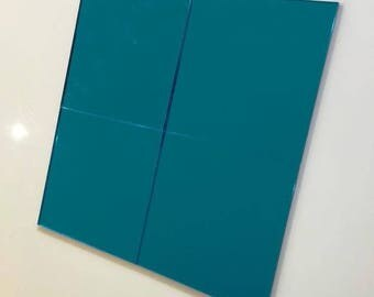"Blue Mirrored Acrylic Square Crafting Mosaic & Wall Tiles, Sizes: 1cm to 20cm - 1"" to 7.9"""