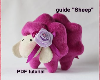 PDF Sheep, toy,Download  tutorial,Soft Doll PATTERN  Cloth Doll Pattern, Digital Download instructions+pattern. instant download
