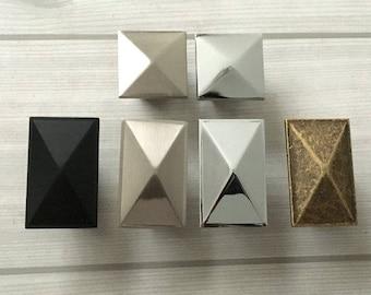 """0.6"""" Cabinet Knobs Kitchen Handles Antique Bronze Black Silver Nickel Chrome Drawer Pull Dresser Pulls Rectangular Lynns Hardware 3/5"""" 16 mm"""