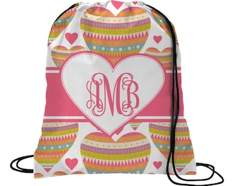 Hearts Drawstring Backpack (Personalized)
