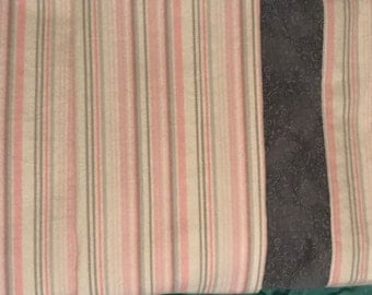 Deluxe Double Flannel Receiving Blanket- Pink & Gray Stripe