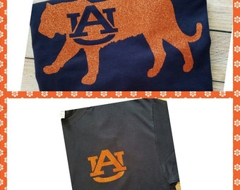 Auburn color etsy for Auburn war eagle shirt