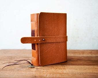 Travel Journal, leather journal with pockets
