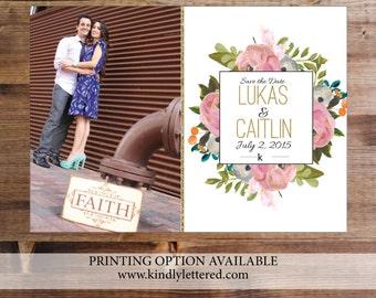 Photo Save-the-Date-Printable Invitations-5x7 Digital File-Photo Card-Announcement Invites