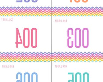 Numbers for Live Sale 0-151, White Background