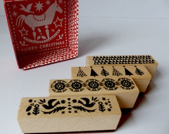 Stamp set Christmas X-Mas trims trees